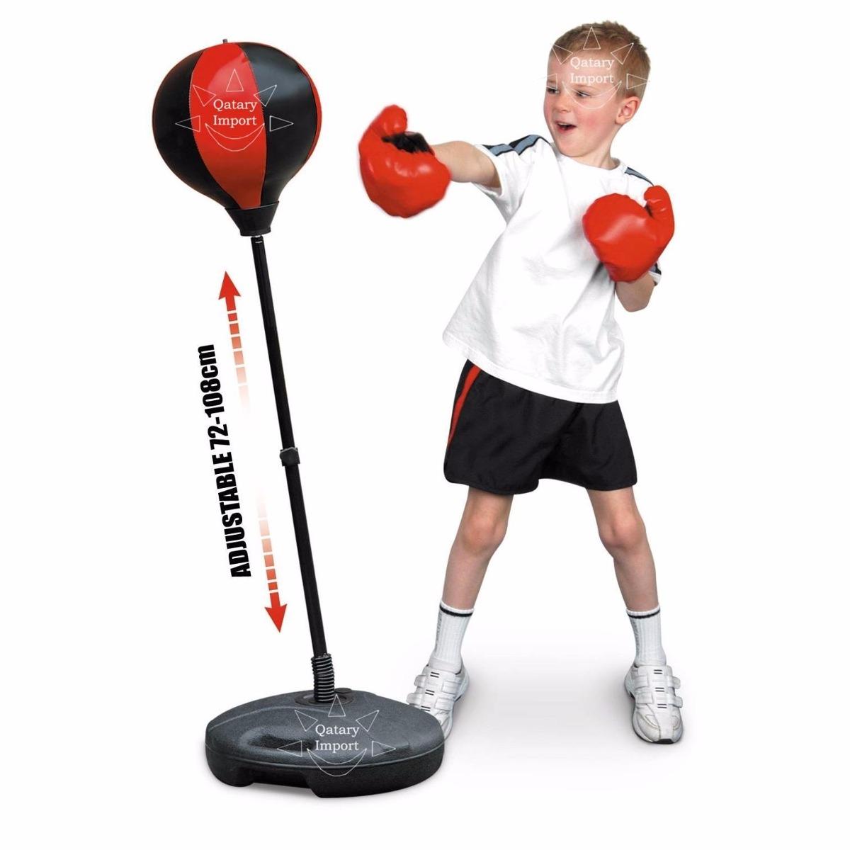 kit de boxeo para niños saco bolsa de box + guantes envio