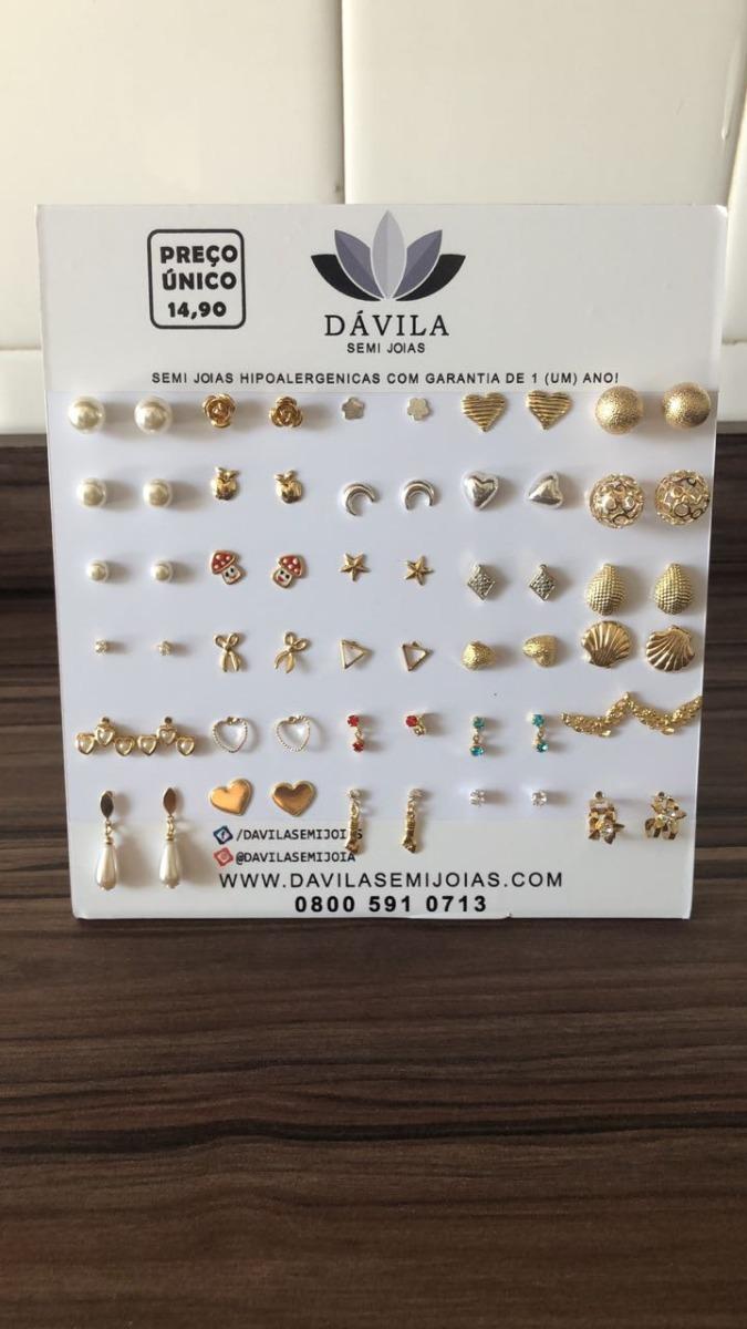 72fda504490c0 Kit De Brincos Ouro Com Display - Atacado - Revenda - R  149,00 em ...