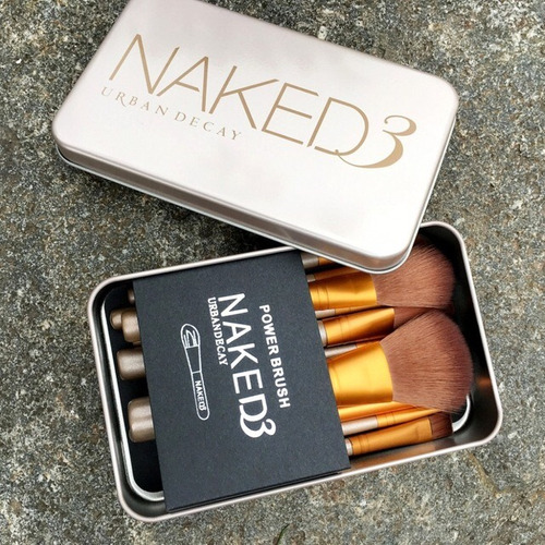kit de brochas naked 3 urban decay set x 12 maquillaje
