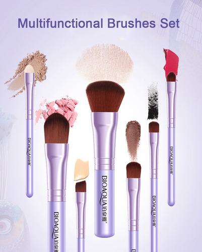 kit de brochas para maquillaje con estuche