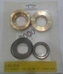 kit de bronces/sello cuero en  u  22mm. hidrojet marca landa