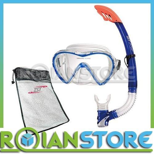 kit de buceo ist snorkeling mascara + snorkel 100% silicona