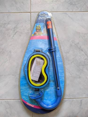 kit de buceo para niños, careta y snorkel - intex