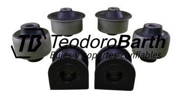 kit de bujes tren delantero x6 piezas tb 12mm - ford escort