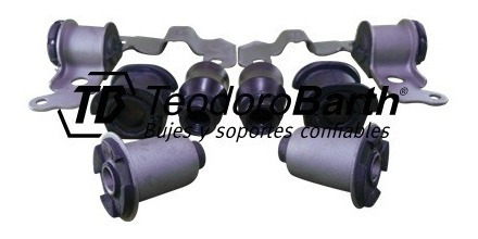 kit de bujes tren delantero x8 piezas 23mm - fiat palio d/h