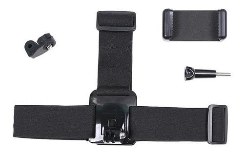 kit de cabeça, peito, telefone móvel, câmera de ação