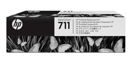 kit de cabezales hp original 711 (c1q10a) plotter t120 t520