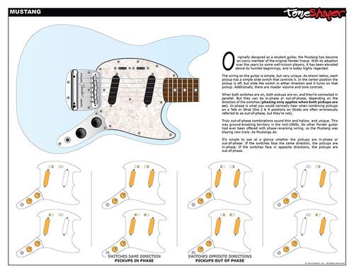 kit de cableado de guitarra, para fender mustang (inter...