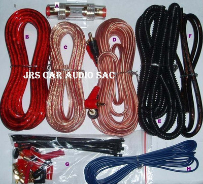 kit de cables #8  american accessories a solo s/.59.99 soles