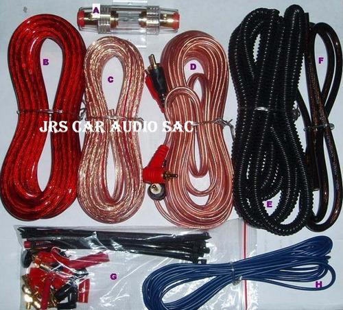 kit de cables #8  american accessories a solo s/.59.99 soles