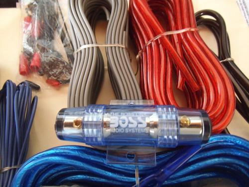 kit de cables #8 sonido de carro boss