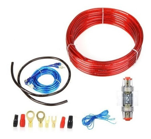 kit de cables audio hd 5m para amplificador subwoofer auto