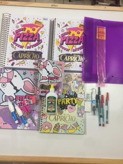 Kit De Cadernos Agenda Capricho 2019 Canetas Grafite R