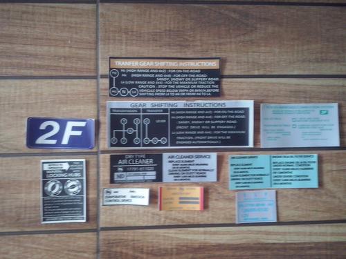 kit de calcomanias fj40, fj45