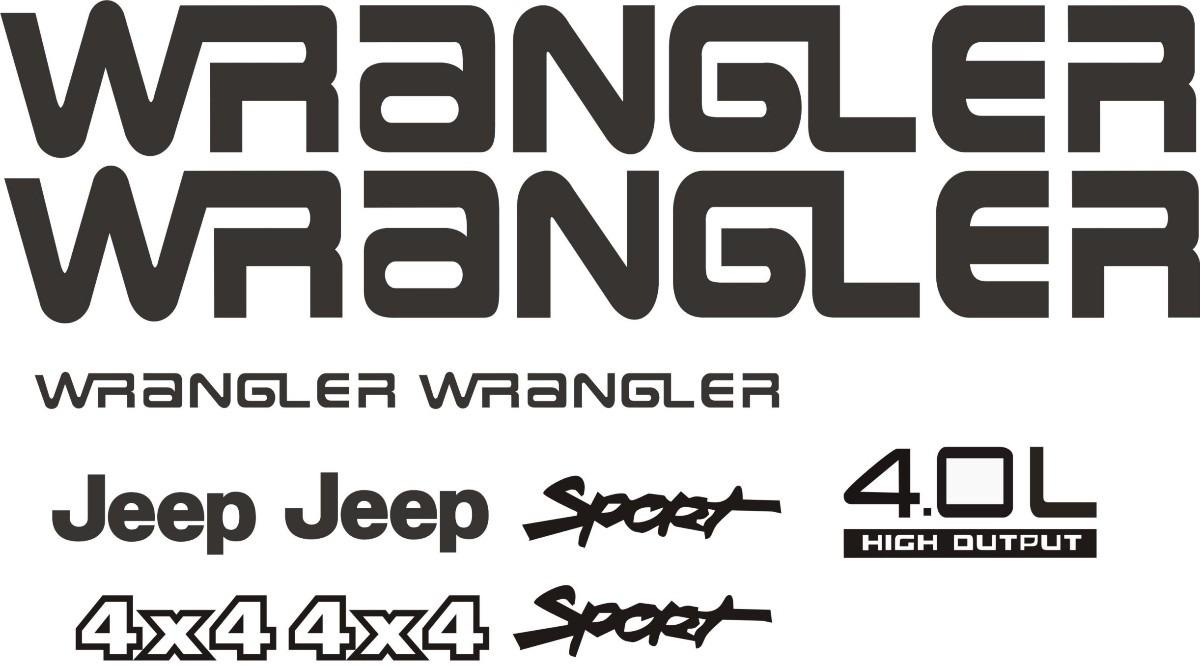 Kit De Calcomanias Para Jeep Wrangler, Tj Y Rubicon - Bs ...
