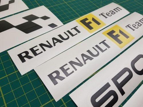 kit de calcomanias renault f1 team sport, diseño original.