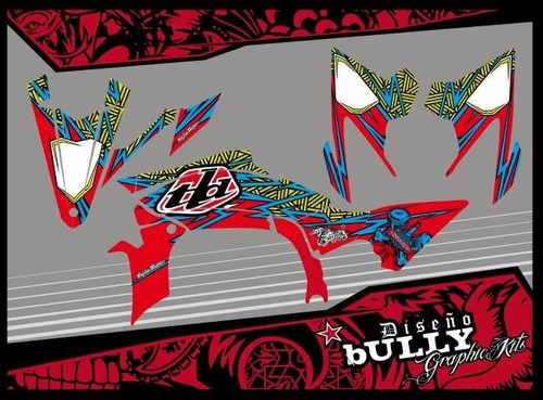 kit de calcos bully designs completo yamaha 450r