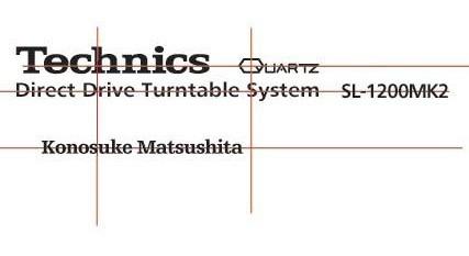 kit de calcos para restauración technics sl1200 mk2