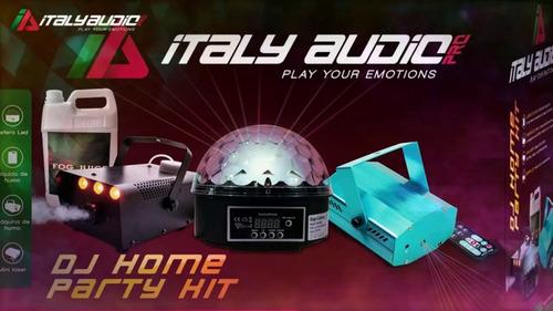 kit de camara de humo ,esfera , liquido y lazer italy audio