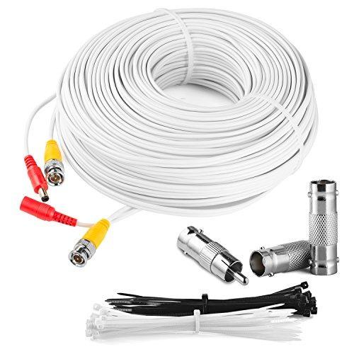 kit de cámara de seguridad de cable bnc 150 pies: todo en un