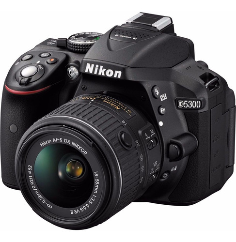 kit de camara nikon d5300 con 18-55mm + estuche + mem 32gb