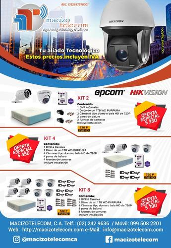 kit de cámaras de vídeo vigilancia cctv full hd seguridad