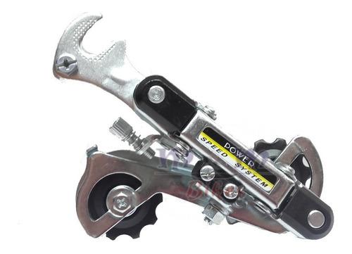 kit de cambios con gancho al eje para bicicleta 18 o 21 vel