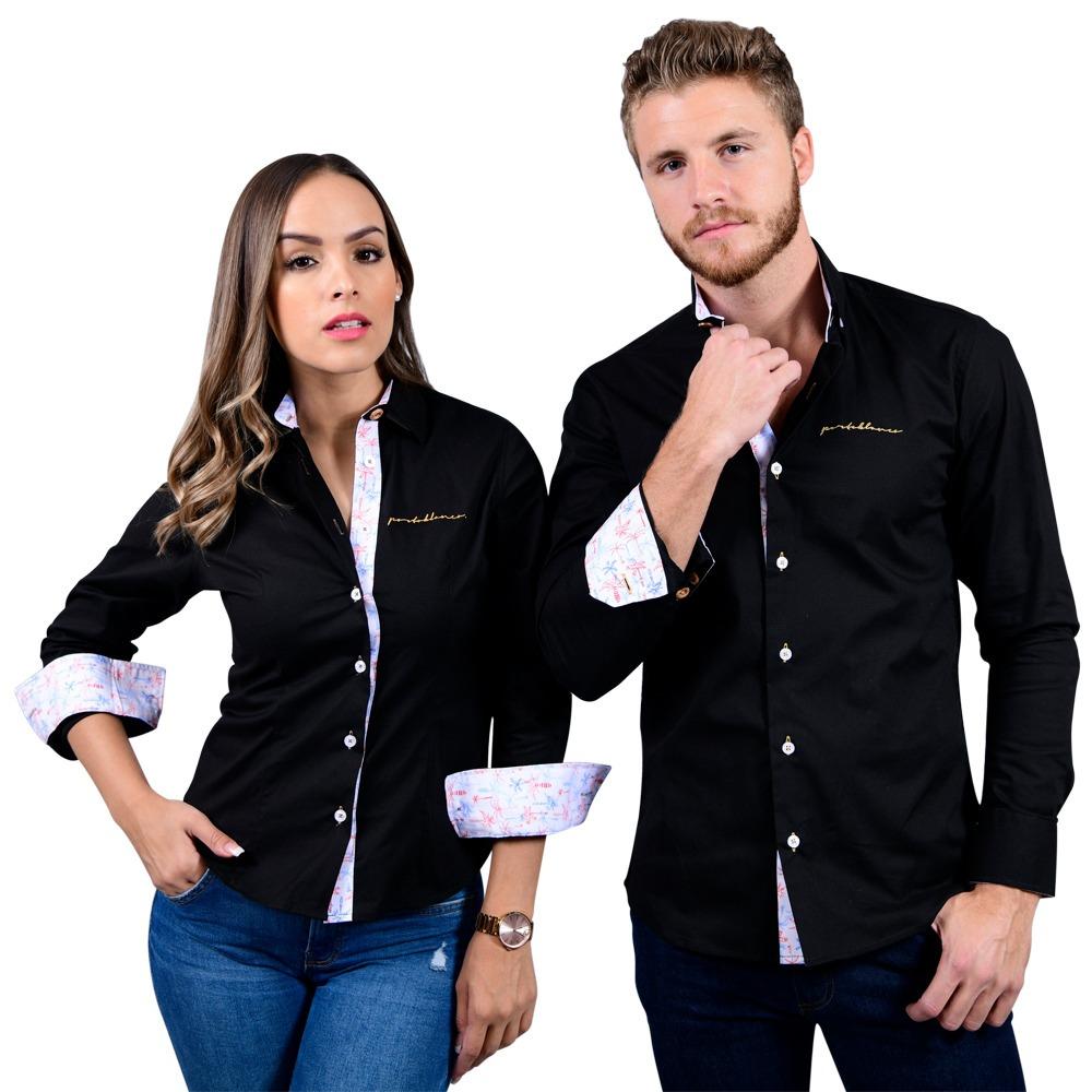 5a13de9d80 kit de camisas porto blanco dama y caballero parejas de-517. Cargando zoom.