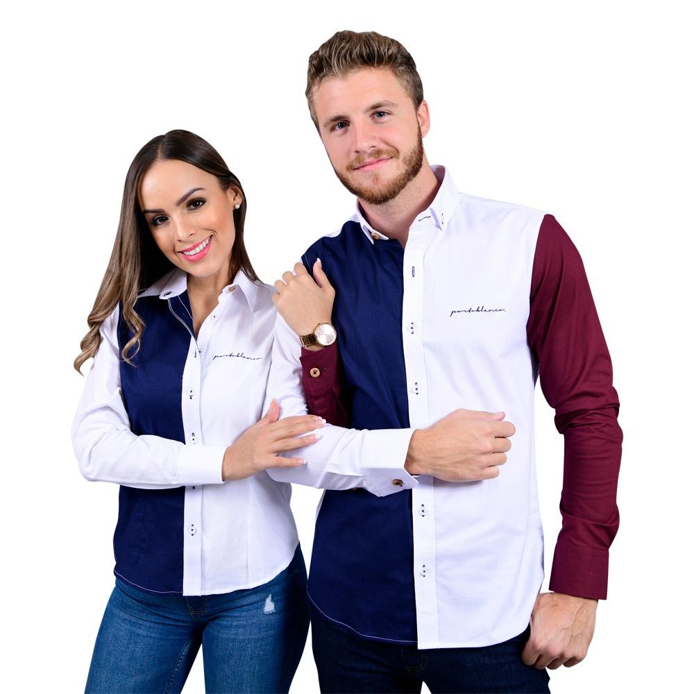 55f122ac66 kit de camisas porto blanco dama y caballero parejas de-572. Cargando zoom.
