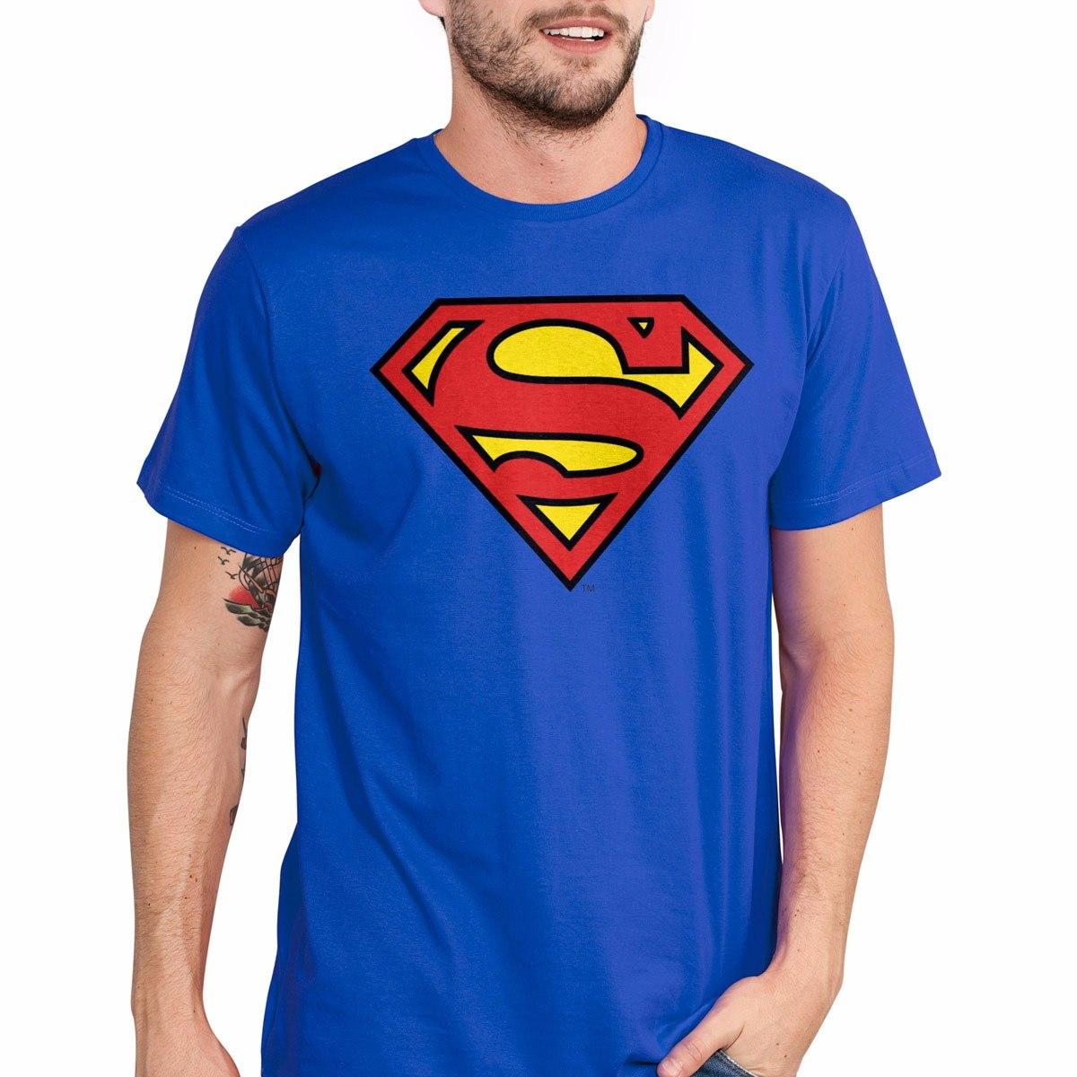 494ab2ec0 Kit De Camisetas Batman Flash Superman Logo Oficial - R  119