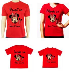 f1e2e909f4c0 Kit Camisetas Mickey Familia - Camisetas Curta com o Melhores Preços no  Mercado Livre Brasil