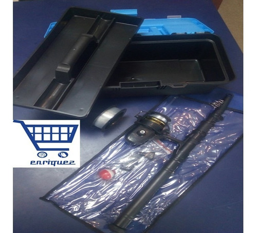 kit de caña de pescar con accesorios
