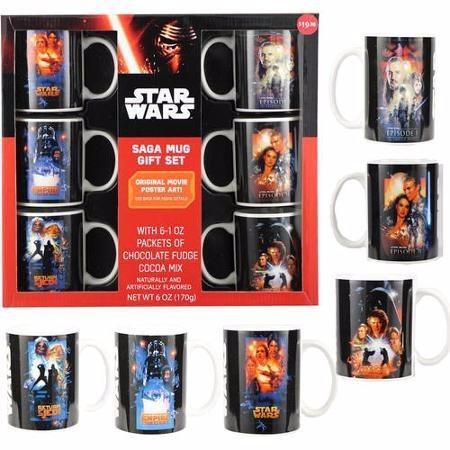 kit de canecas da saga star wars