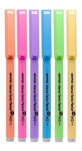 kit de canetas: esferográfica gel + marca texto - newpen