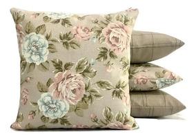 1e74c39eb0fb77 Kit De Capas Para Almofada Floral Grande Impermeavel 60x60