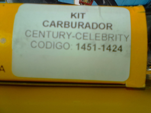 kit de carburador para century - celebrity