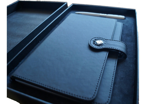 kit de carpeta personalizable curpiel de lujo para dama