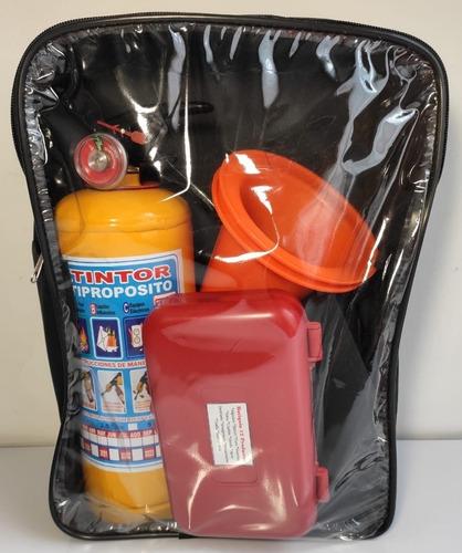 kit de carretera, extintor reglamentario, botiquín 12 produc