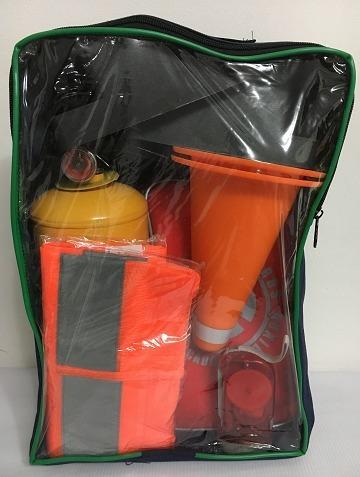 kit de carretera,botiquín reglamentario + chaleco + linterna