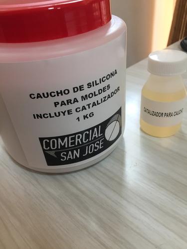 kit de caucho de silicona dureza 20 para moldes x 1kg colada