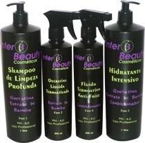 kit de cauterização 4 produtos interbeauty cosmeticos