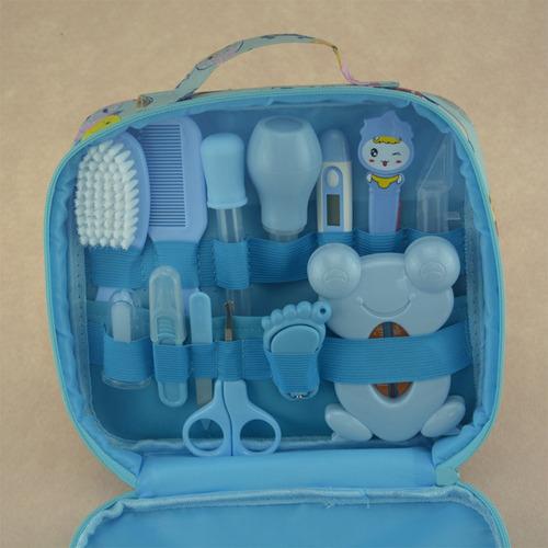kit de cepillo de aseo niños recién nacidos azul 13pcs / set