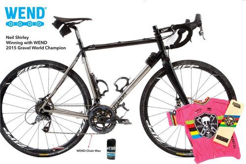 kit de cera wend wax chain para cadena roll on bicicleta