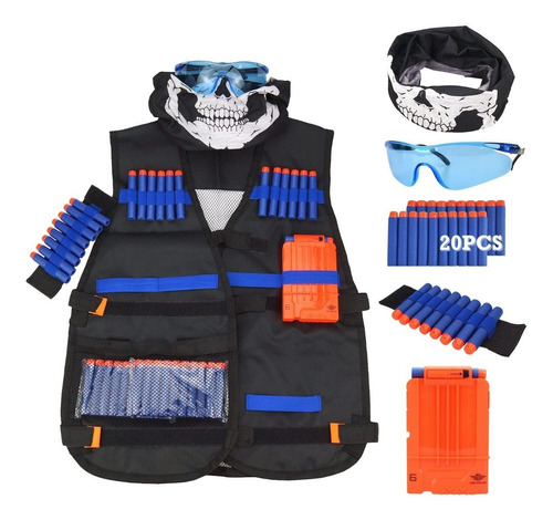 kit de chaleco táctico para serie n-strike elite