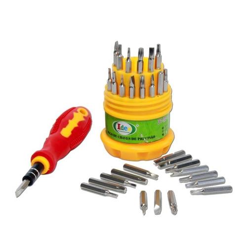 kit de chaves de precisão 31 pçs - alen fenda philips torx y