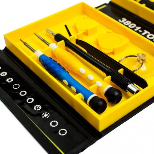kit de chaves de precisão c/ 38 pçs p/ celular c/ pinça