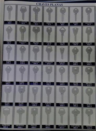 kit de chaves virgens yale 150 unidades + brinde