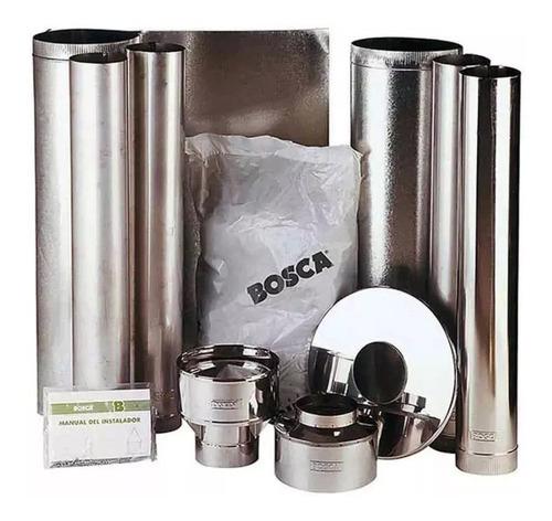 kit de chimenea completo para calefactor a leña de 150 mm