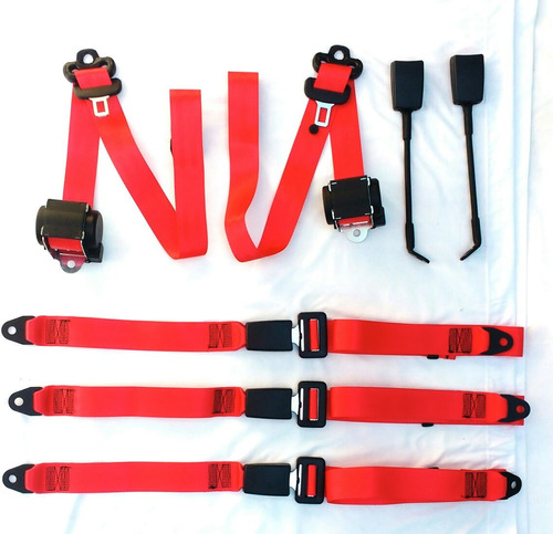 kit de cintos de segurança gol quadrado e voyage + parafusos