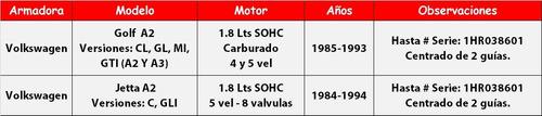 kit de clutch vw jetta a2 1.8 lts sohc (8v) 1984 1985 (24d)